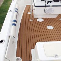 Yacht Marine Decking Mat Edge Strip EVA Flooring Warm Pad Teak Sheet Brown UK