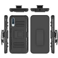 For Samsung Galaxy A50 Hybrid Shockproof Armor Holster Belt Clip Cover Case