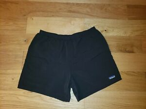 "Patagonia Baggies Lined 5"" Men's Large Black Shorts Trunks"