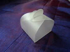 100 x CLEAR TRANSPARENT FAVOUR/GIFT/BABY SHOWER/PLACE SETTING BOXES  - DIY