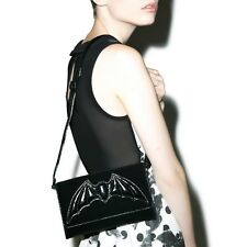 IRON FIST Night Stalker Clutch Bag Velvet Bat Goth Witch RARE Gothic NWT Womens