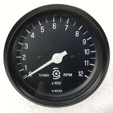 Drehzahlmesser 1200 u/min, Dm: ca.8 cm VDO-Instrument 333.230/118/002, 12 V