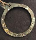 Antique Solid Brass MAINE SHELLFISH RING GAUGE 2 Inch QUAHOG + Cork Float RARE