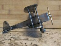 Welded Metal Airplane biplane sculpture Art