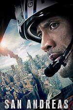 San Andreas Movie Poster (24x36) - Dwayne Johnson, Carla Gugino, Daddario v3