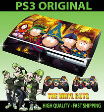 Playstation Ps3 Original South Park Stick Of Truth Cartman Skin & 2 Pad Skins