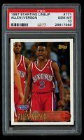 1997 Topps Allen Iverson Rookie Starting Lineup 171 PSA 10 Gem Mint RC 76ers