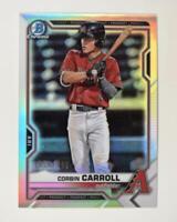 2021 Bowman Prospects Chrome Refractor #BCP-142 Corbin Carroll /499