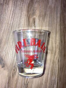 Smash Fireball Etched Shot Glass