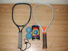Vintage Wilson Champion And Leach Hogan Force Racquetball Racquets W/ Penn Balls