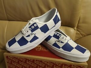 Vans Authentic (Leather Check) Women's Size 12 Shoes White/Blue VN0A2Z5IT67