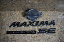 2001 NISSAN MAXIMA SE 20TH ANNIVERSARY EDITION REAR EMBLEM LOGO BADGE SIGN OEM