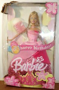 2004  HAPPY BIRTHDAY BARBIE DOLL WITH TIARA FOR YOU  DAMAGED BOX