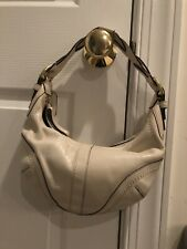 Coach Woman's Handbag Purse White Leather