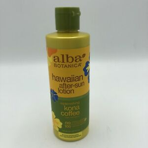 Alba Botanica Hawaiian After-Sun Lotion Replenishing Kona Coffee 8.5 oz
