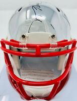 New England Patriots Julian Edelman Signed Chrome Mini Helmet - Beckett BAS