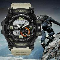 SMAEL Men Date Fashion Quartz Military 50M Waterproof Digital Analog Dual Watch