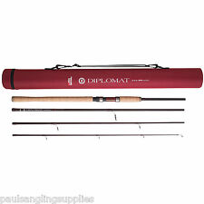 Abu Garcia Diplomat Carbon Travel Spinning Spin  Rod 4pc & Case 8 ft  1302975