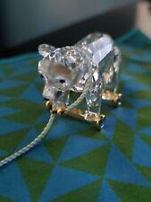 Swarovski Silver Crystal Memories Bear on Wheels. Retired 1990's 7644 Nr 077 000