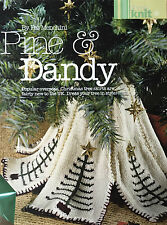 KNITTING PATTERN Sirdar Christmas Tree Skirt Trim Festive Pine and Dandy TO MAKE