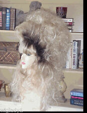 SIN CITY WIGS BIG HAIR WIG LONG WAVY CURLY BLONDE DARK ROOTS TEASED SEXY WILD
