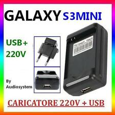 CARICABATTERIA PR BATTERIA SAMSUNG GALAXY S3 MINI GT i8190 RETE DESKTOP USB 220V