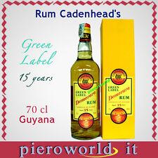 1 bott. CADENHEAD'S rum Demerara 15 y. ron produced Guyana RHUM GREEN LABEL
