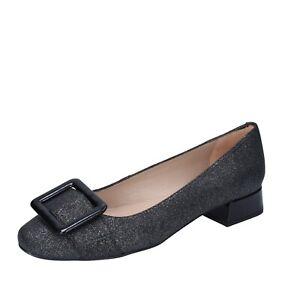 Women's Shoes UNISA 36 Eu Ballet Flats Grey Leather Synthetic BM40-36