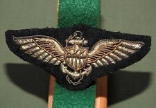 US Navy USMC Marine WW2 BULLION PILOT WINGS Vtg USN Aviator Patch Badge Insignia