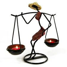 Nordic Metal Candlestick Abstract-Character Sculpture Candle Holder Handmade