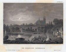 DIE ROESKILDE CATHEDRALE-Dänemark-St.St.nach C.Reiss um 1840-10,5x15,0 cm