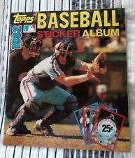 1982 TOPPS BASEBALL COLLECTORS EDITION STICKER ALBUM COMPLETE