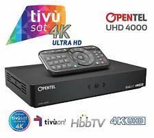 Decoder OPENTEL 4K ULTRA HD 4000 TVS, con Smartcard TIVùSAT inclusa