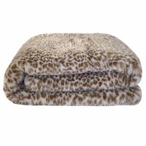Bambury Faux Fur Leopard Throw |Cushion| Oblong Cushion
