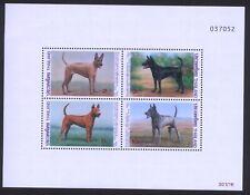 Thailand 1993 International Correspondence Week Minisheet - Dogs MNH