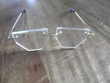XL GRANNY HEXAGANOL DOLL / TEDDY RIMLESS GLASSES WITH GOLD EAR BARS Code G050