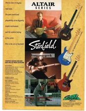 1992 Starfield Altair Electric Guitars Rob Buck Donald Kinsey Vtg Print Ad