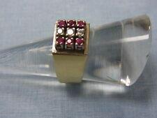 585er Gelbgold Ring mit Rubin und Brilianten RG 56 Gewicht 9,20 Gramm