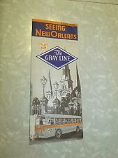 Vintage Old Collectible New Orleans The Gray Lines Bus Tour Brochure Yellow Cabs