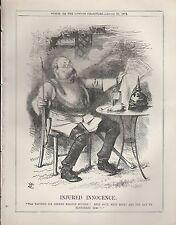 1872 Punch Cartoon German Injured Innocence at French Loan Raised