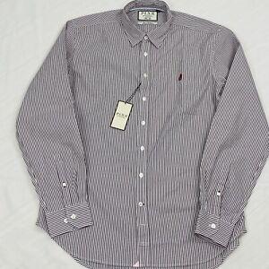 Thomas Pink Shirt CW Watson STR BC Burgundy white Classic Fit Large 16.5 - 17