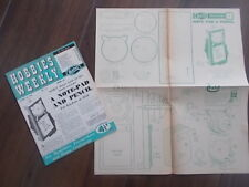 HOBBIES WEEKLY MAGAZINE OCTOBER 10th 1956 FREE DESIGN A NOTE PAD AND PENCIL