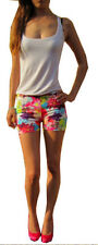 Hot Pants Floral Plus Size Shorts for Women