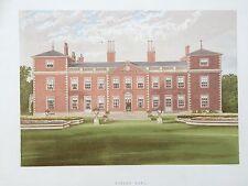 C.1880 impression; Euston HALL, près de Thetford, Suffolk