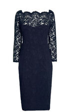 New NEXT Size 14 TALL NAVY BLUE LACE EVENING / COCKTAIL DRESS BNWT