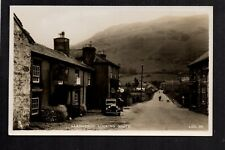Llangynog Village looking South - south west of Builth Wells - RP postcard