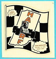 Decal: TOM BIGELOW. 1977 HARF Driver Of The Year. Sprint Car Auto Racing Sticker