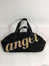 VICTORIAS SECRET BAG ANGEL Black Canvas Tote Handbag Purse