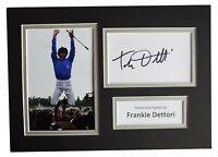 Frankie Dettori Signed Autograph A4 photo display Horse Racing AFTAL COA