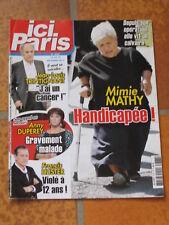 ICI PARIS n° 3767, Trintignant, Anny Duperey, Francis Huster, Mimie Mathy, Delon